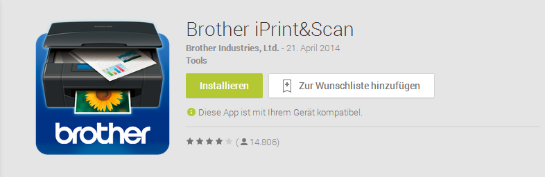 Brother iPrint App