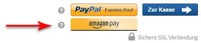 Bezahlen mit Amazon auf dem Weg zur Kasse