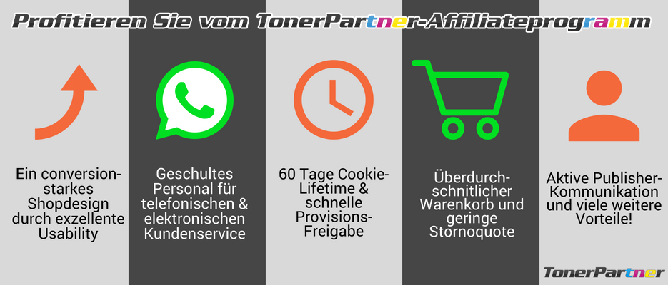 TonerPartner Affiliate Infografik