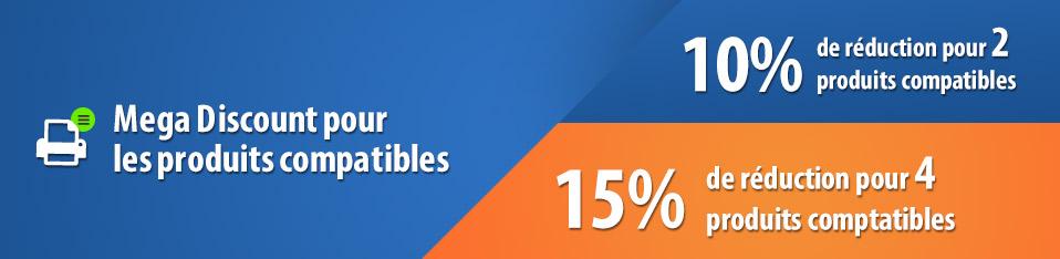 Mega Discount pour les produits compatibles