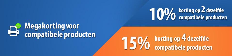 15% Mengenrabatt ab vier kompatiblen Produkten